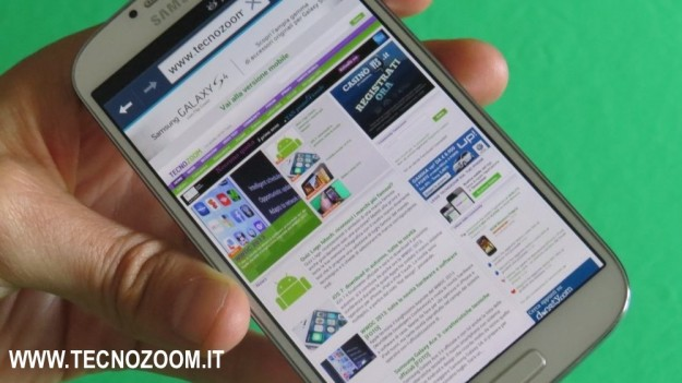 Samsung Galaxy S4 navigazione web