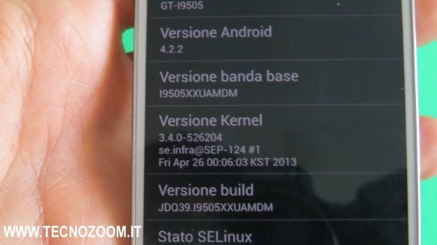 Samsung Galaxy S4 versione Android