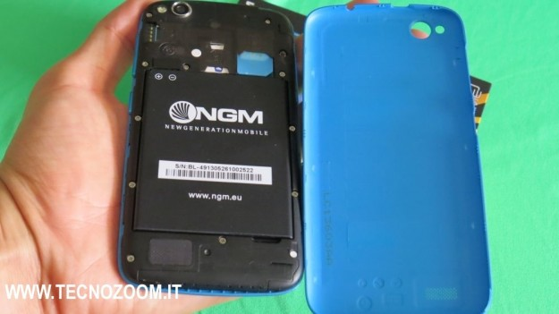 NGM Forward Prime vano batteria e back cover
