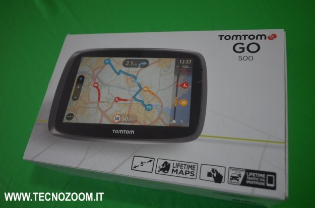 tomtom go 500 recensione del navigatore gps foto tecnozoom. Black Bedroom Furniture Sets. Home Design Ideas