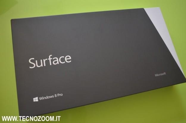 Microsoft Surface Pro confezione