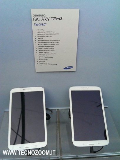 Samsung Galaxy Tab 3 otto pollici