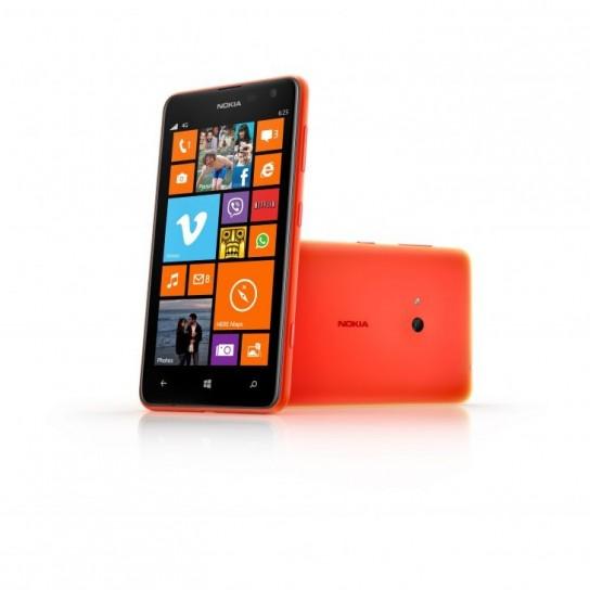 Nokia Lumia 625 con scocca arancione