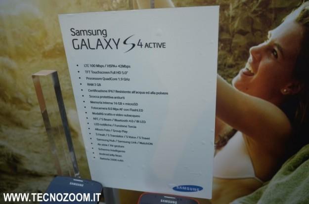 Samsung Galaxy S4 Active caratteristiche tecniche