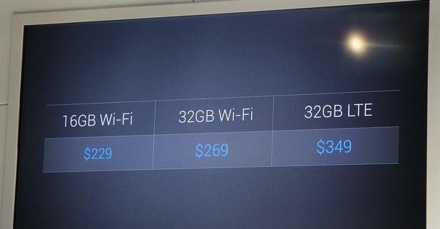 prezzi Nexus 7