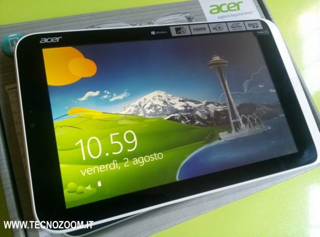 Acer Iconia W3 schermata sblocco