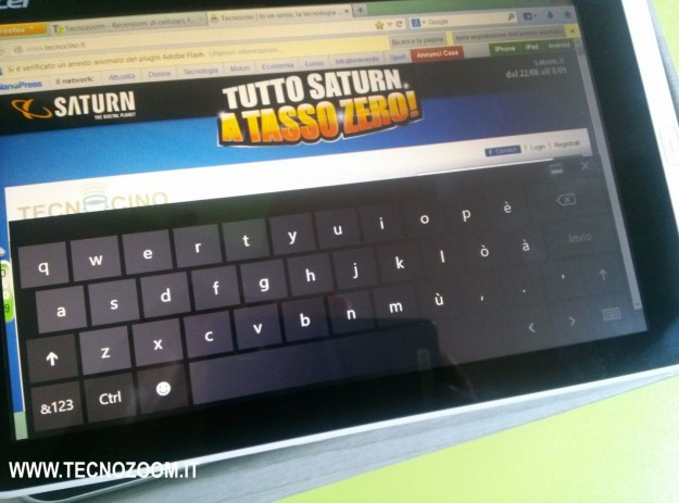 Acer Iconia W3 tastiera