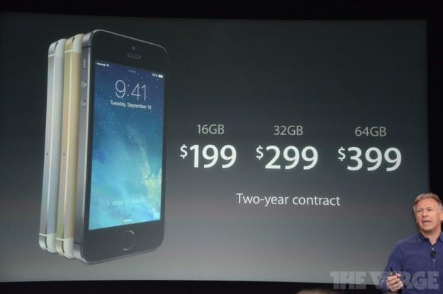 iPhone 5S prezzi ufficiali