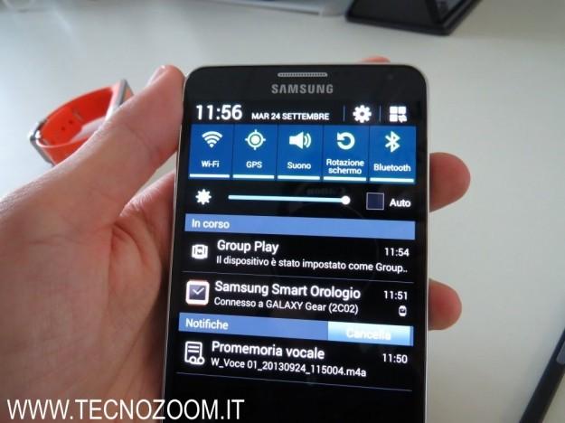 Samsung Galaxy Note 3 notifiche opzioni