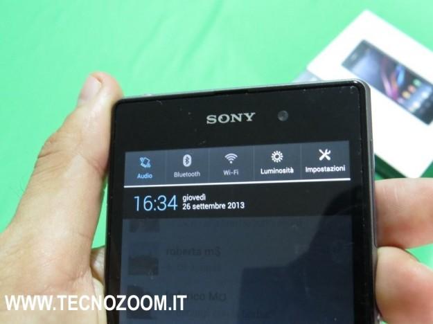 Sony Xperia Z1 notifiche