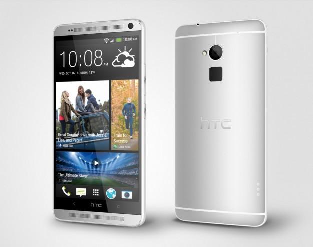 HTC One max Glacial Silver spessore