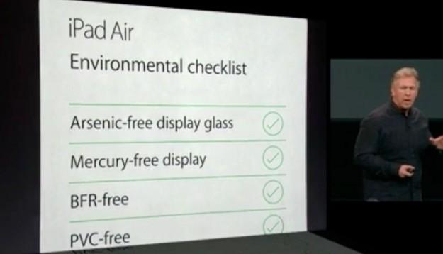 iPad Air ecologia