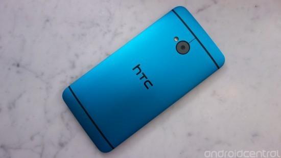 HTC One Vivid Blue retro