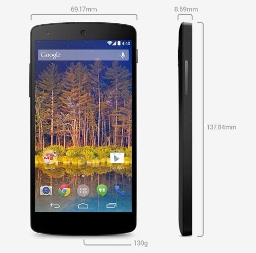 Nexus 5 dimensioni