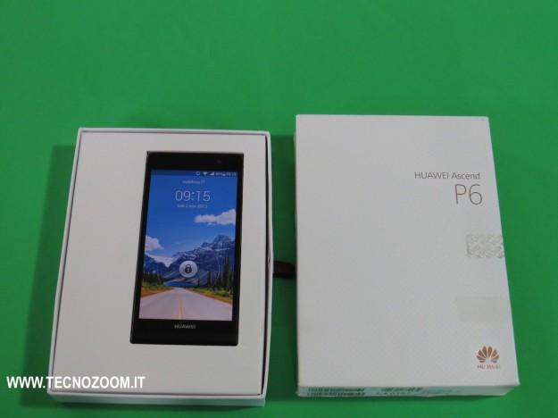 Huawei Ascend P6 e confezione