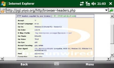 Internet Explorer 6 per windows Mobile