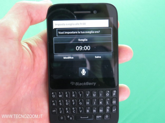 Blackberry Q5 controllo vocale