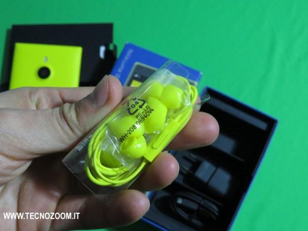Nokia Lumia 1520 cuffie