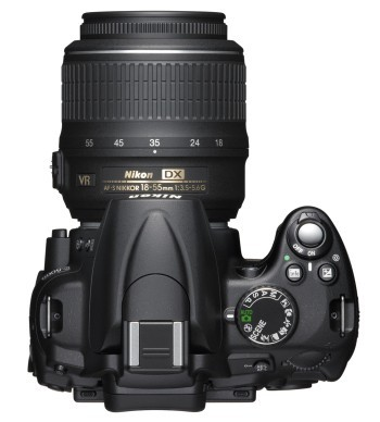 Nikon D5000 vista dall'alto