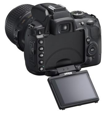Nikon D5000 mirino snodabile