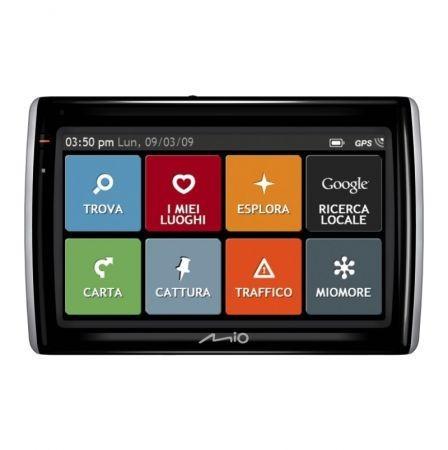 Mio Moov Spirit GPS 500 menu