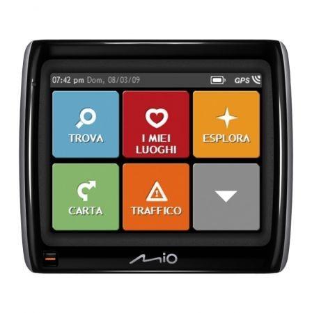 Mio Moov Spirit GPS 300 dettaglio menu