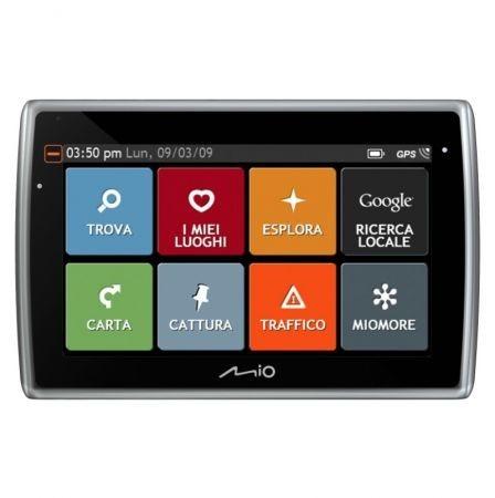 Mio Moov Spirit GPS Flat menu