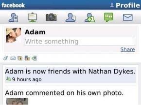 Facebook social network: le foto dell'interfaccia per BlackBerry in anteprima