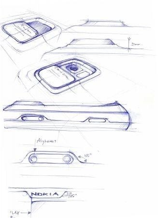 Nokia N97 bozzetti preparatori