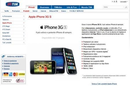 iPhone 3GS: differenze tra Tim e Vodafone