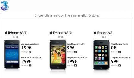 iPhone 3GS: TRE presenta le tariffe le promozioni e le offerte