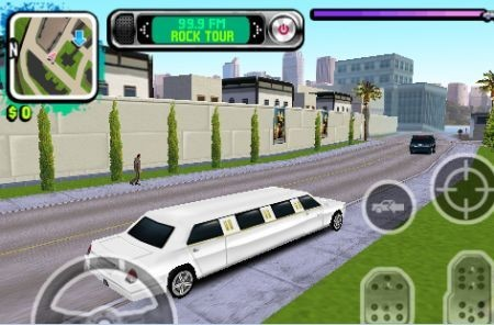 Gameloft Gangstar in modalit� racing con una limousine