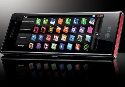 LG Chocolate BL40 nella schermata di utilizzo