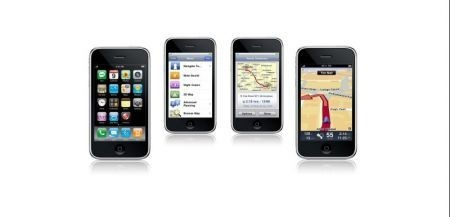il dispositivo iPhone 3GS con TomTom
