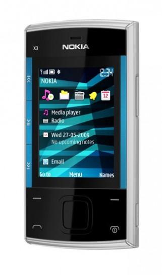 Nokia X3 in versione azzurra