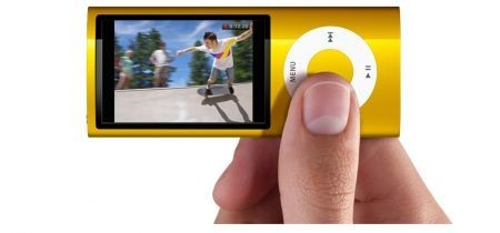 iPod Nano 5G colore giallo con il particolare del displ
