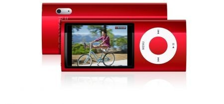 iPod Nano 5G colore rosso con visione videocamera