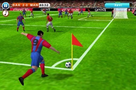 calcio d'angolo in iPhone 3GS Real Football 2010