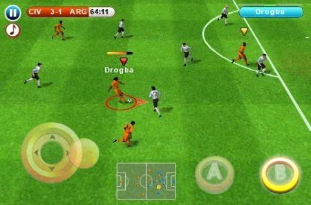 azione di gioco in iPhone 3GS Real Football 2010