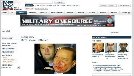 fox news  e l'aggressione di Berlusconi