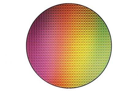 un wafer di silicio