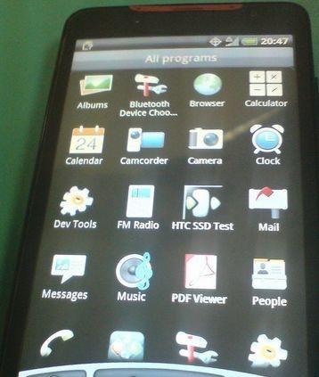 HTC Supersonic: interfaccia utente Android in Anteprima