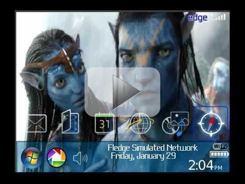 Tema Avatar per palmari Rim BlackBerry